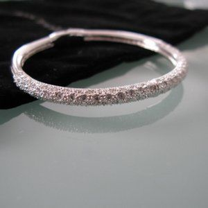 Ann Taylor Silver Bangle with mini stones